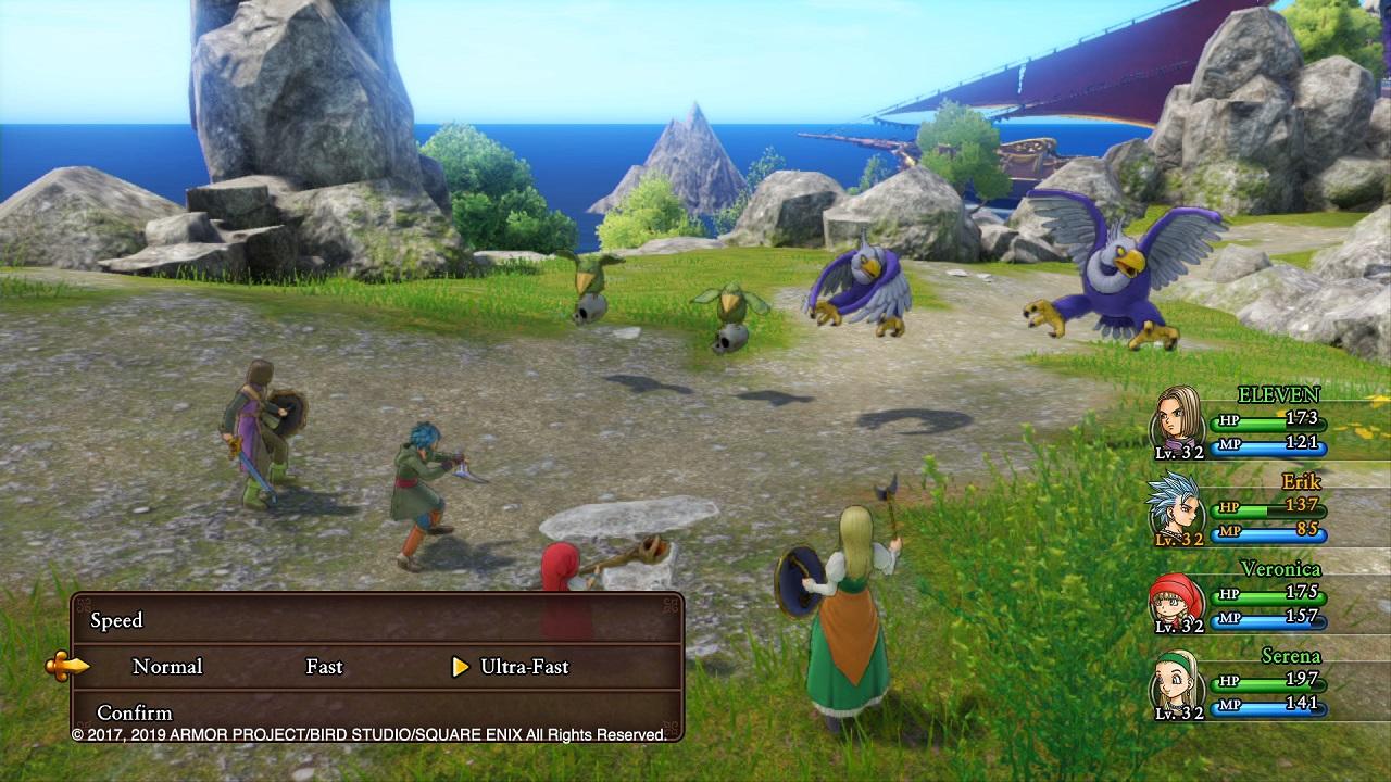 Dragon Quest XI S Kampfsystem