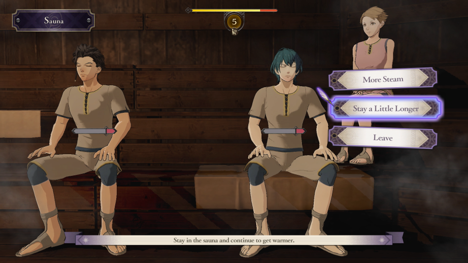 fire emblem three houses sauna