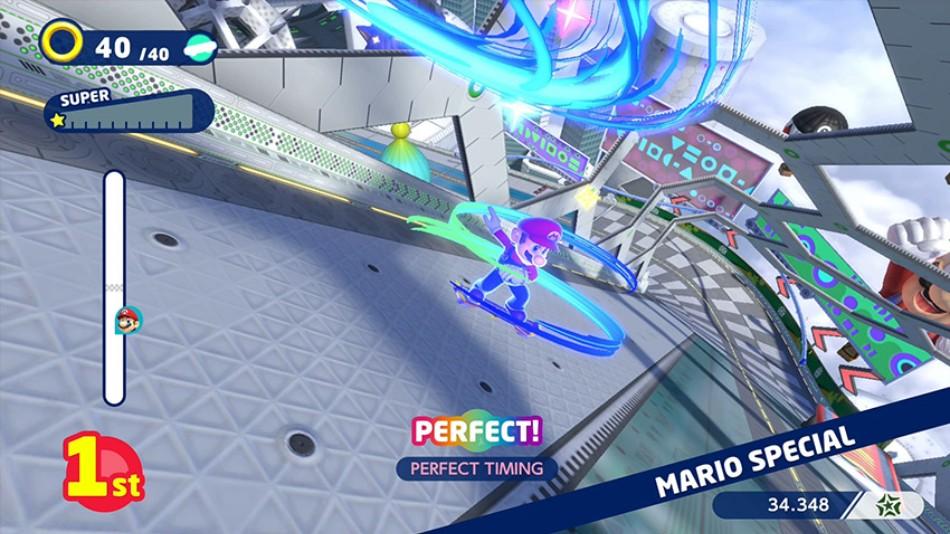 Mario führt ein Special in Traumdisziplin Skateboard aus